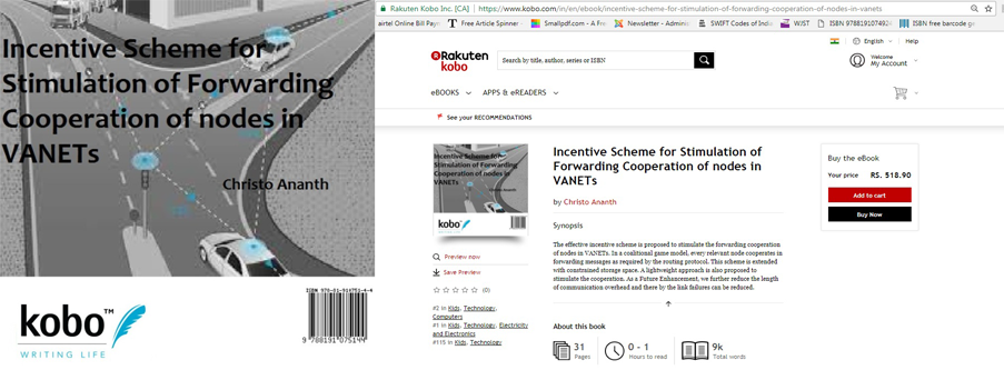 Christo ananth professor httpskoboinenebookincentive scheme for stimulation of forwarding cooperation of nodes in vanets fandeluxe Images