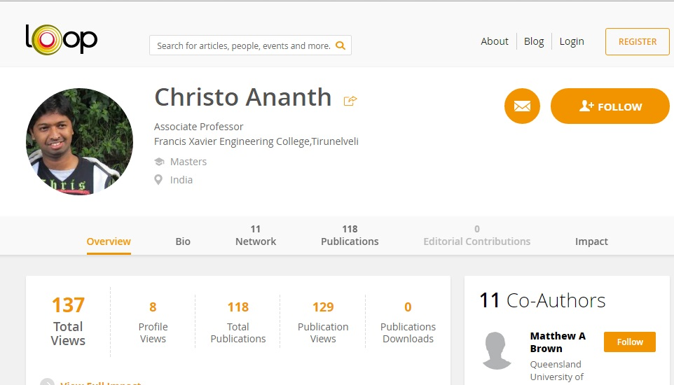 Christo Ananth - Professor